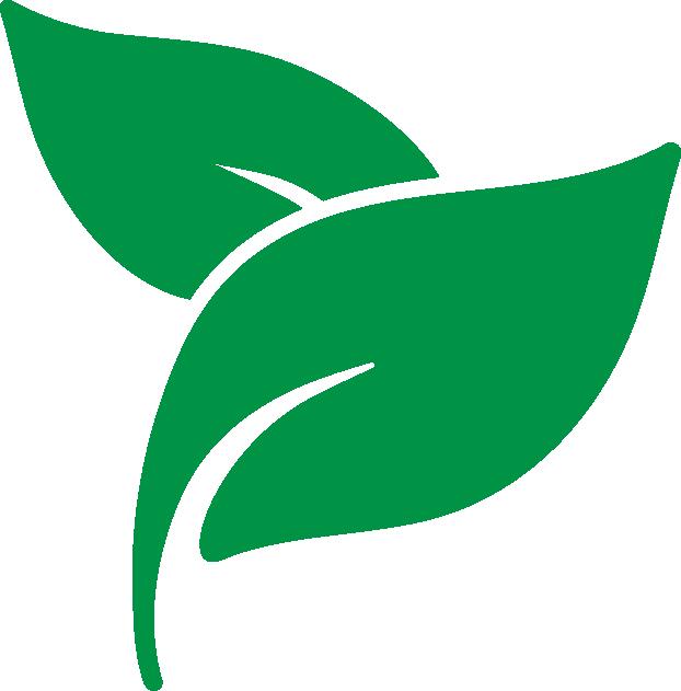 Icon mit Blättern