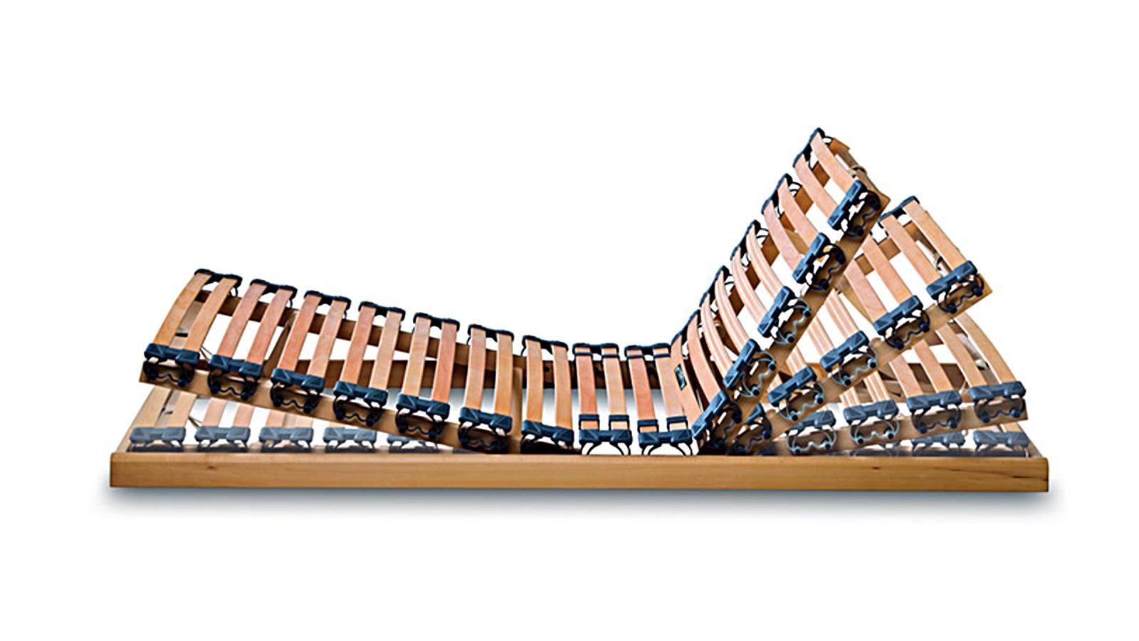 Bild zeigt unseren Orthoflex Lattenrost mit verstellbarer Fuß- und Kopfablage